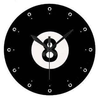 8ボールのデザインの柱時計 ラージ壁時計