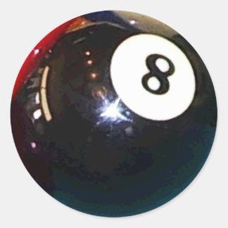 8ボールの玉突の玉 ラウンドシール