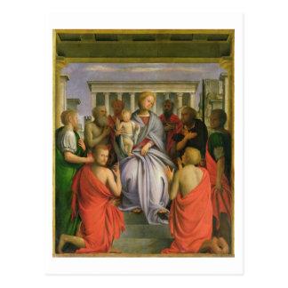 8人の聖者、1520年代(気性を持つマドンナそして子供 ポストカード