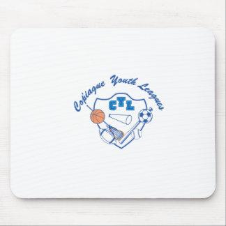 8以下のナッサウサフォークのサッカー連盟イーグルス マウスパッド
