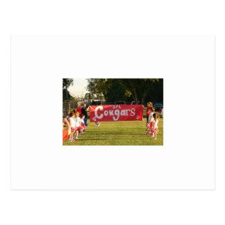 8以下のSheldonのサッカー連盟のクーガー ポストカード