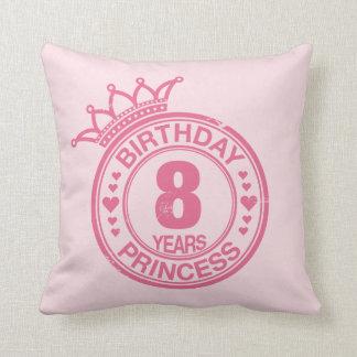 8年-誕生日のプリンセス-ピンク クッション