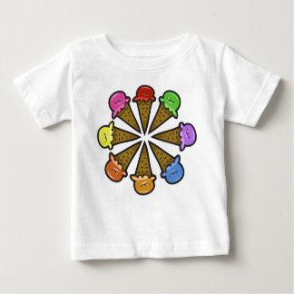 8本のアイスクリームコーン#1 ベビーTシャツ