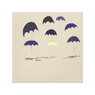 8本の傘 キャンバスプリント