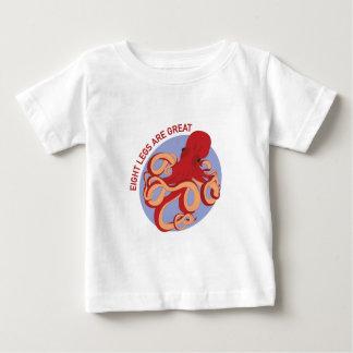 8本の足 ベビーTシャツ