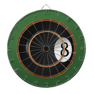 8枚の球のビリヤードのカスタムなゲームの投げ矢板 ダーツボード