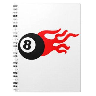 8球および炎 ノートブック