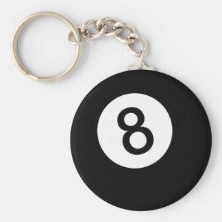 8球か黒い球 キーホルダー