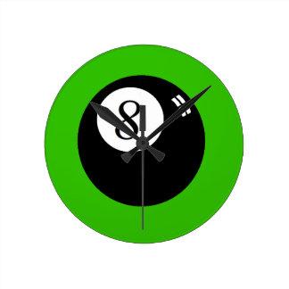 8球 ラウンド壁時計