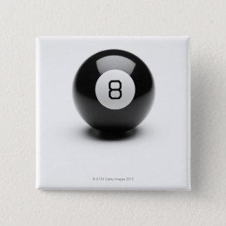8球 5.1CM 正方形バッジ