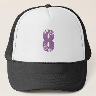 #8紫色の花柄 キャップ