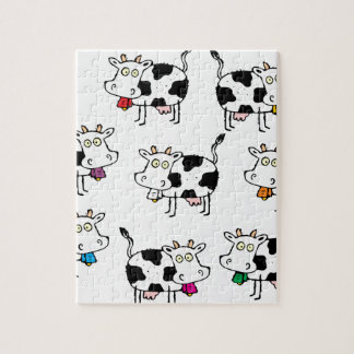 8頭の牛の女性 ジグゾーパズル