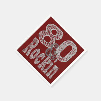 80およびRockin スタンダードカクテルナプキン