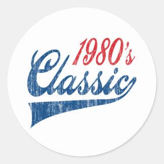 80年代のクラシックの誕生日 ラウンドシール