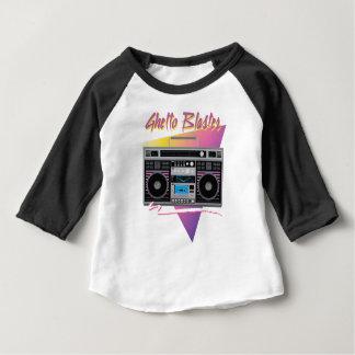 80年代のゲットーの発破工のboombox ベビーTシャツ