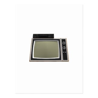 80年代のスタイルTVおよびビデオデッキ: 3Dモデル ポストカード