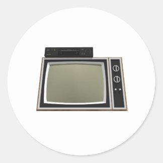 80年代のスタイルTVおよびビデオデッキ: 3Dモデル ラウンドシール