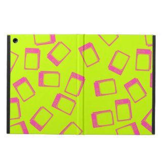 80年代のネオン黄色緑のピンクのレトロのヴィンテージTV iPad AIRケース