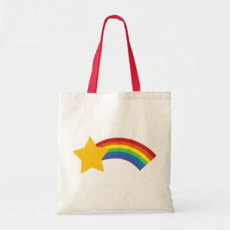 80年代のレトロの破裂音の虹の流星のバッグ トートバッグ