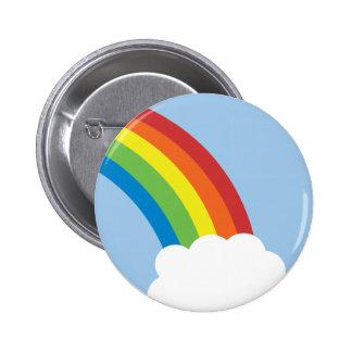 80年代のレトロの虹ボタン 5.7CM 丸型バッジ