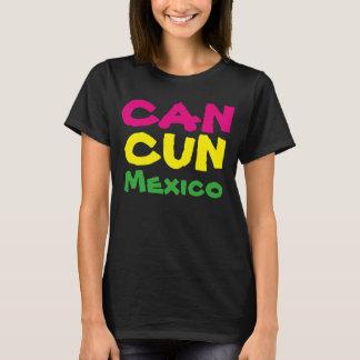 80年代の女性のカンクンメキシコの休暇旅行Tシャツ Tシャツ