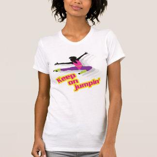 80年代の好気性の女性- jumpinで保って下さい tシャツ