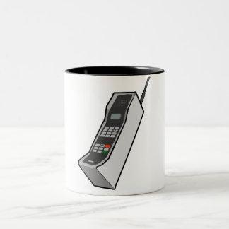 80年代の携帯電話 ツートーンマグカップ