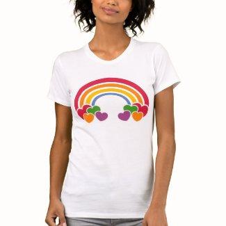 80年代の虹「nのハートのTシャツ