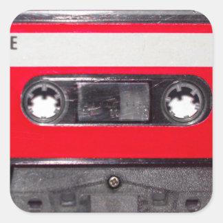 80年代の赤いラベルカセット スクエアシール