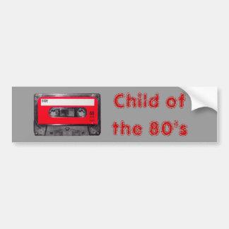 80年代の赤いラベルカセット バンパーステッカー