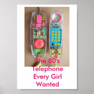80年代の電話ポスター ポスター