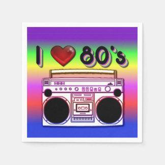 80年代のBoomboxのパーティのナプキン スタンダードカクテルナプキン