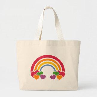 80年代虹及びハートのバッグ ラージトートバッグ