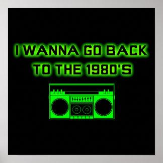 80年代-ポスターに戻って(小さい) ポスター