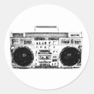 80年代Boombox ラウンドシール