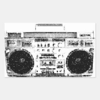80年代Boombox 長方形シール