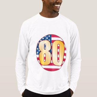 80米国の金ゴールド Tシャツ