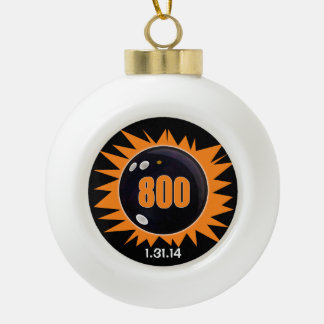 800のシリーズオレンジ セラミックボールオーナメント