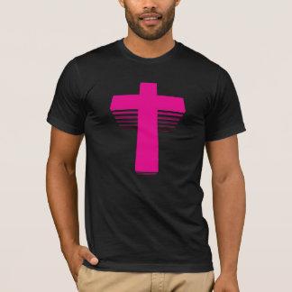 80sスタイルのテクノの十字 tシャツ