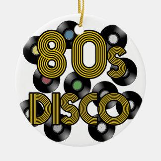 80sディスコのレコード セラミックオーナメント