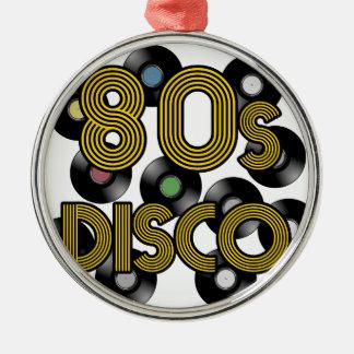 80sディスコのレコード メタルオーナメント