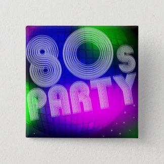 80sパーティー 5.1cm 正方形バッジ