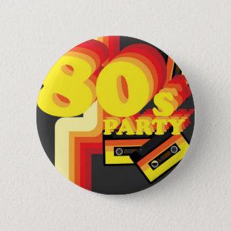 80sパーティー 5.7cm 丸型バッジ
