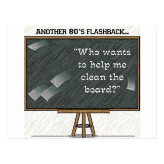80sフラッシュバック-黒板 ポストカード