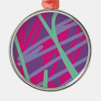 80s八十年代のヴィンテージ色はメドレーの芸術の女の子をはねかけます メタルオーナメント