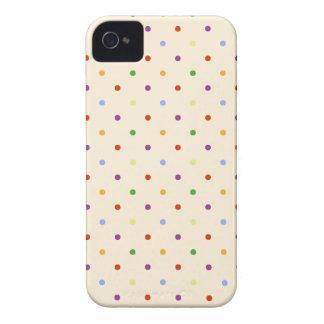 80s小柄い虹の多色刷りの水玉模様パターン iPhone 4 カバー