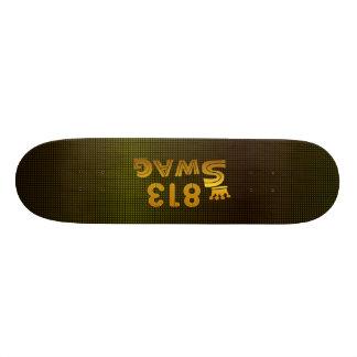 813市外局番のスワッグ 18.1CM オールドスクールスケートボードデッキ