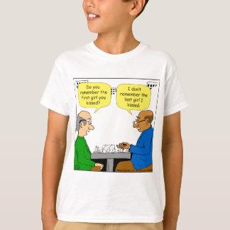828最初女の子漫画に接吻しました Tシャツ