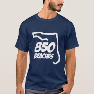 850のビーチのティー Tシャツ