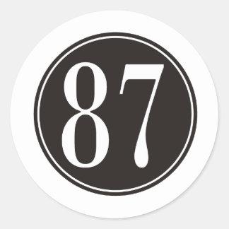 #87黒い円 ラウンドシール